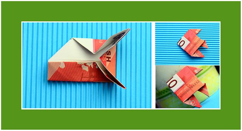 Origami Geldscheine Fisch
