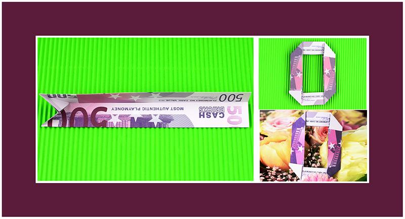 Geldscheine Falten Zahl 0