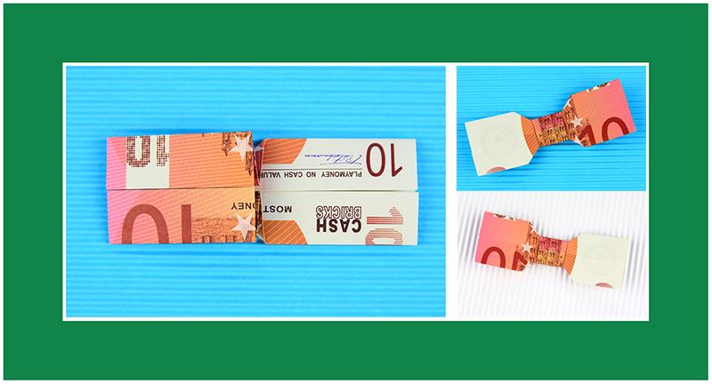Geldscheine falten Kleidungsstücke